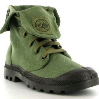 Palladium Boots Baggy Canvas Mens Canvas Boot Army Green Sizes UK 7 12