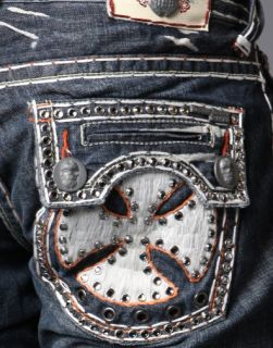 Laguna Beach Jeans Embroidered White 2G Crystals Sample 30 or 31