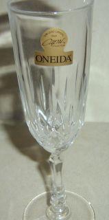 Oneida Capri Antonia Crystal Champagne Flute Stem New