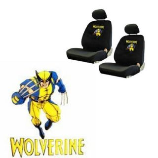 Comics Superhero Low Back Bucket Car Seat Covers Set Fit