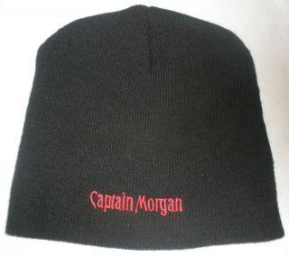 Captain Morgan Black Knit Ski Cap Hat One Size