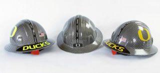 Ducks 2011 BCS Championship Fan Hard Hat Combo   Carbon Fiber Finis
