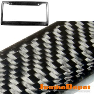 REAL 100 CARBON FIBER LICENSE PLATE FRAME PLATE TAG TWILL REAR TRUNK