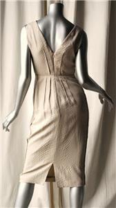 Calvin Klein Collection Snake Print Sand Dress 4 New