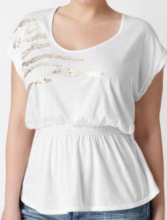 NWT Calvin Klein Plus Sequin Scoopneck Shirt Top 2X New