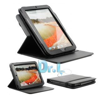 LEATHER 360 ROTATE STAND CASE SCREEN PROTECTOR STYLUS FOR HP TOUCHPAD