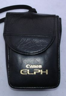 Canon ELPH 370Z APS Camera in Leather Case Excellent 082966140471