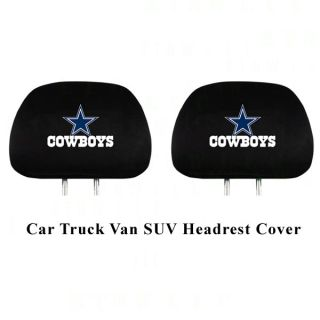 NFL Dallas Cowboys Headrest Covers Match Seat Covers Floor Mats