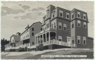 Grand Manan N B Marathon Hotel North Head Canada Postcard