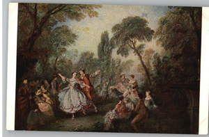Postcard Lancret Painting Art La Camargo Dancing
