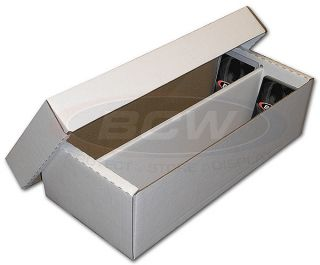 1600 COUNT BASEBALL TRADING CARD BCW CARDBOARD STORAGE BOXES zx