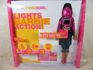 Barbie Video Girl AA Doll Camera Camcorder New Black African American