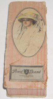Vintage Art Nouveau Pearl Brand Chocolates Candy Box