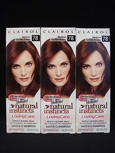 Natural Instincts Loving Care Hair Color 78 Medium Golden Brown