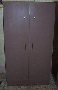 METAL WARDROBE CLOTHES CABINENT CLOSET STORAGE LARGE SHELF KEY LOCK