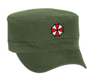 Corporation Embroidered Military Style Cap Hat Olive Green