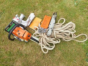 MS260 Pro Chainsaw Simpson Capstan Rope Winch 100 ft of Rope