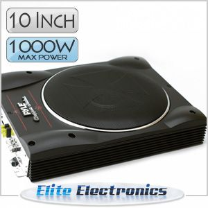 PLBASS10 10 SLIM PROFILE 1000W MAX AMPLIFIED POWERED SUBWOOFER CAR SUB