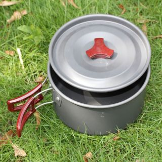 Hard Oxidation Portable Camping Cooking Cookware Foldable Pot Pan New
