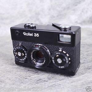 Rollei 35 Black Paint w Carl Zeiss Tessar 40 3 5 40mm f 3 5 Lens RARE