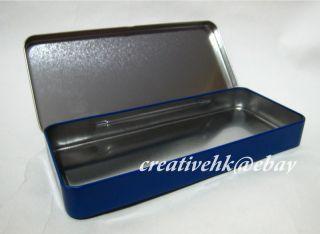 Disney Cars Lightning McQueen Metal Pencil Box Case New