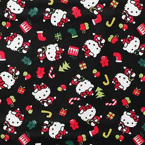 New Christmas Hello Kitty Peanuts Novelty Custom Made Scrub Top
