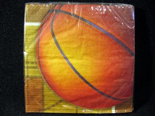 Basketball Birthday Party Supplies Lot Plates Napkins Cups Stickers
