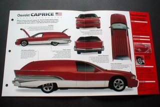 1992 Chevrolet Caprice Custom Wagon Imp Brochure 92