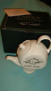 signed paul cardew teapot advertising teapot large white teapot