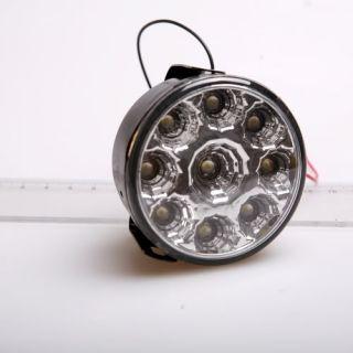 Round White 9 LED Car Auto DRL Daytime Running Day Driving Fog Light