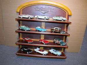OF THE FIFTIES 12 CARS FRANKLIN MINT 1 48 DIECAST WITH DISPLAY SHELF