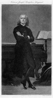 Composer Piano Hungary Franz Liszt 1894 Print RARE