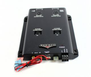 NEW KICKER KX2 2 Way Car Crossover Active Electronic Low Profile Slim