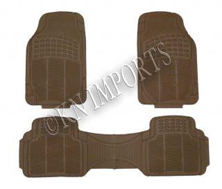 Car Truck Van SUV Rubber Floor Mats Semi Customs for Front Rear 3pcs A