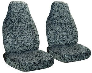Silver Black Front Car Seat Covers More Back Seat Cover Avbl