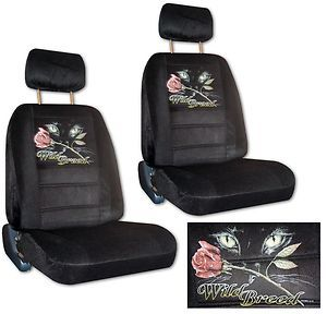 Seat Covers Car Truck SUV Wild Breed Cat Eyes with Rose Low Back PP 5