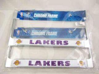 NBA Los Angeles Lakers Metal License Plate Frame 2pcs