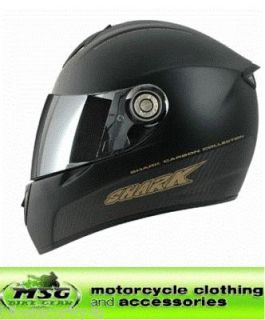 shark rsi matt carbon motorcycle crash helmet xl