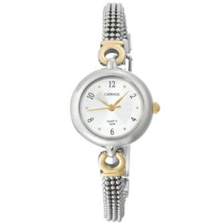 Carriage by Timex Womens C6A221 Two Tone Bracelet Watch