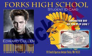 Twilight Edward Cullen Forks High Student ID Card