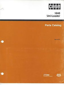 Case 1840 Uni Loader Skid Steer Loader Parts Manual Used in Binder