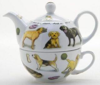 Paul Cardew Design Multiple Dog Breed Tea for One Teapot & Cup NIB