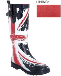 Capelli New York Shiny Flag Printed with Buckle Ladies Womens Rain