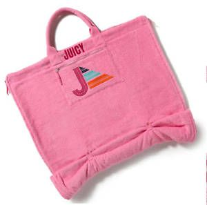 NWT Juicy Couture Beach Towel Sling Bag Carnation Pink