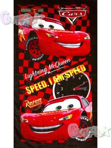 New Pixar Cars Lightning McQueen Bath Shower Towel B 45X23