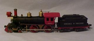 HO AHM Rivarossi 4 4 0 Virginia Truckee Steam Locomotive