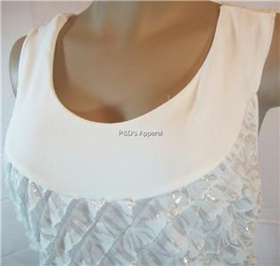New Carole Little Womens Plus Size Clothing White Tank Top Shirt