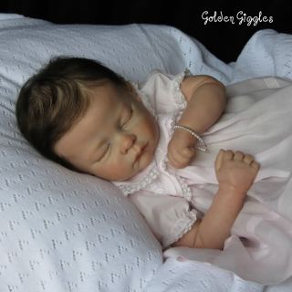 Golden Giggles Reborn Baby Girl Andi by Linda Murray