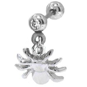 316L SS Ear Cartilage Piercing Ring Jewelry Spider 18g