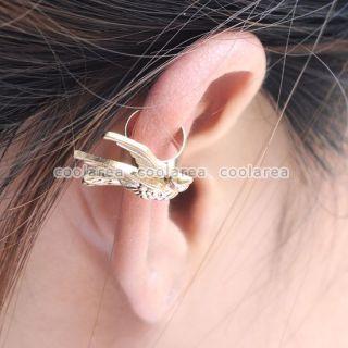 Gothic Punk Rock Swallow Bird Ear Cartilage Cuff Wrap Clip Earring No
